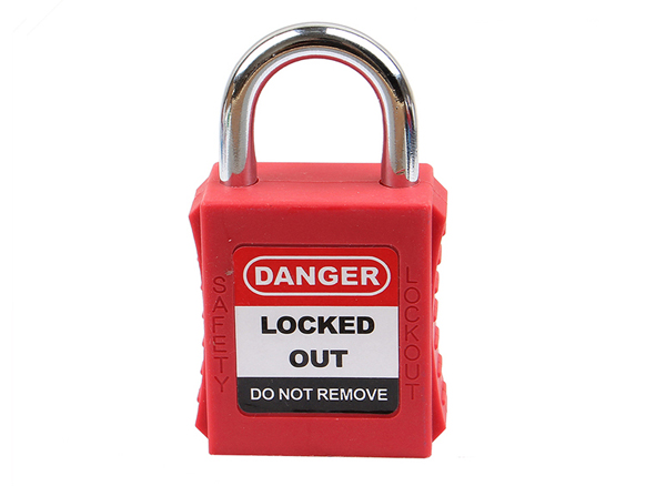 Short Shackle Lockout Tagout Padlock, 25mm