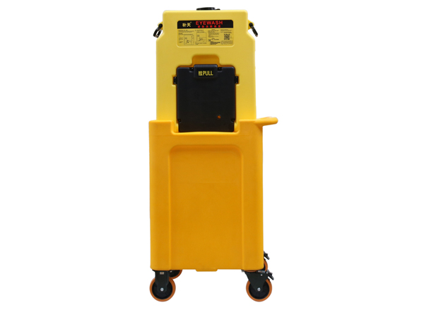 Portable Emergency Eye Wash Station with PE handcart, 14Gal/53L