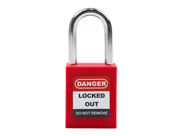 Medium Shackle Lockout Tagout Padlock, 38mm