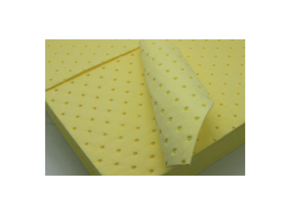 Chemical Absorbent Pad, dimples and perforated, 2mm