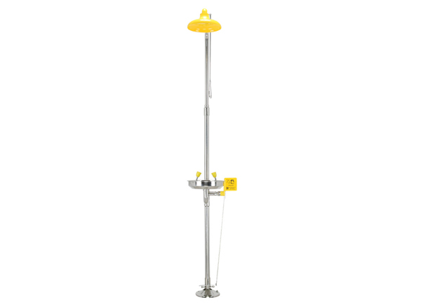 Compound Shower and Eyewash Station, Foot Pedal, SUS304