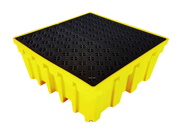 IBC Spill Containment Pallet with rack