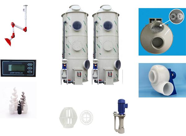 Hệ thống tháp phun xử lý khí độc bằng SUS304
